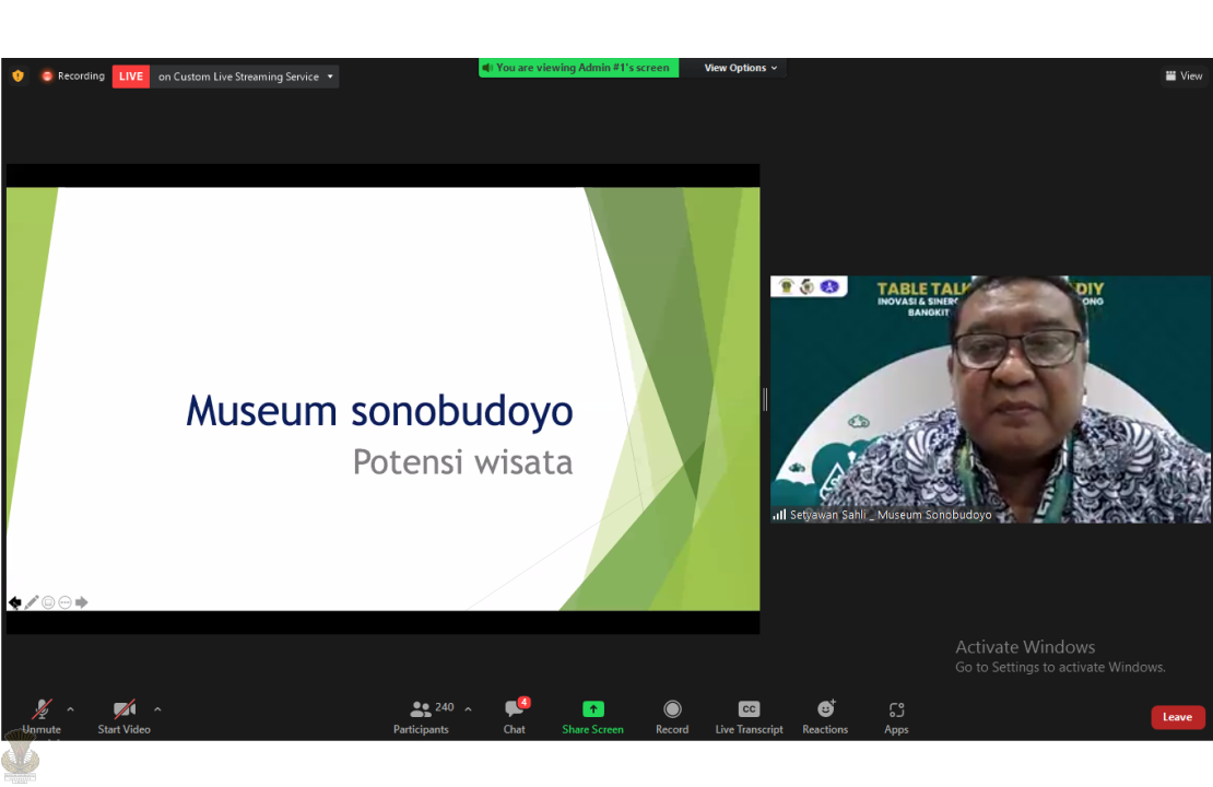 Table Talk : Innovation and Museum Synergy in Encouraging the Rise of the Tourism Industry