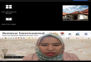 Seminar Literasi Sejarah Kebencanaan Indonesia
